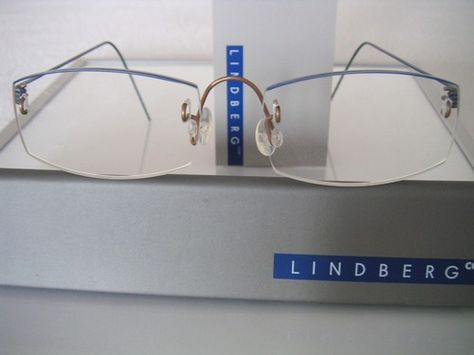 cd364d4b32 New Rimless  950 Lindberg™ Air Titanium Frames in Blue Copper Without  Lenses