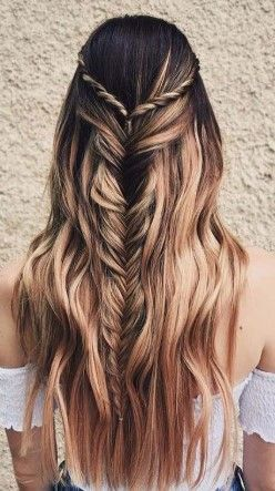 60 Best Ideas Long Hair For Women Page 2 Of 15 In 2020 Braided Prom Hair Hair Waves Hair Styles