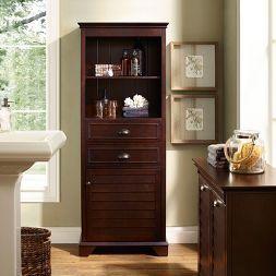 Decorative Storage Cabinets Crosley Espr B Tall Bathroom Storage Tall Cabinet Decorative Storage Cabinets