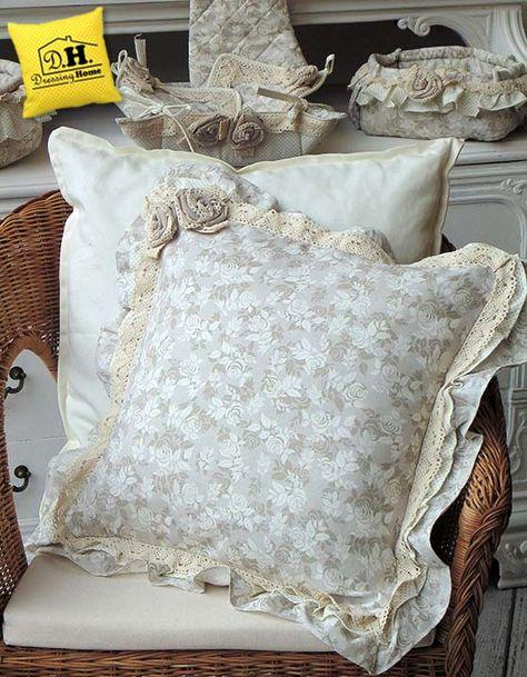 Cuscini Decorativi Letto.Cuscino Arredo Shabby Chic Della Collezione Lady Rose Cuscini