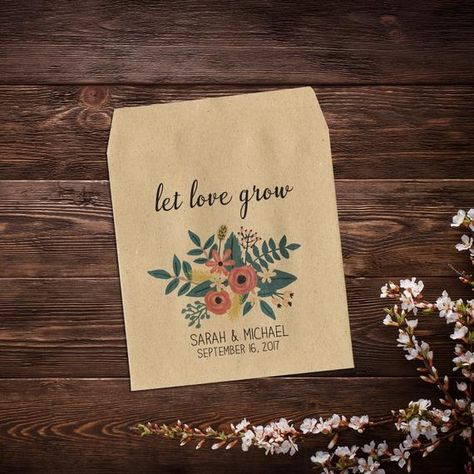 Wedding Seed Packet, Wedding Favor, Garden Wedding, #weddingfavours #seedpackets #seedfavors #weddingfavors #weddingseedfavor #rusticweddingfavor #gardenwedding #wildflowerseeds #letlovegrow #seedpacketfavors #customseedpackets #floralwedding #seedenvelope