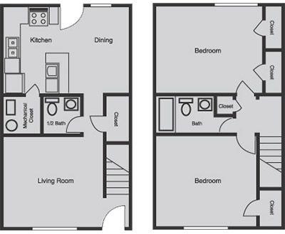 Simple Base Townhouse Floor Plan Floor Plans Townhouse Apartments Apartment Management