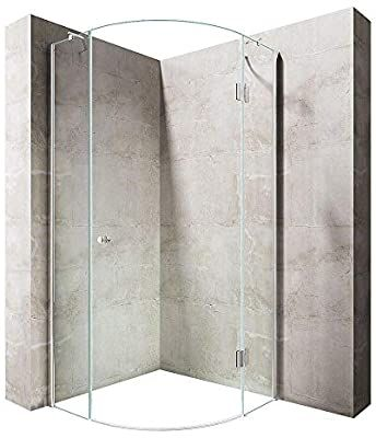 Durovin Bathrooms Quadrant Frameless Shower Enclosure Hinged Door Corner Entry 8mm Safety Clear Shower Doors Bifold Shower Door Shower Enclosure