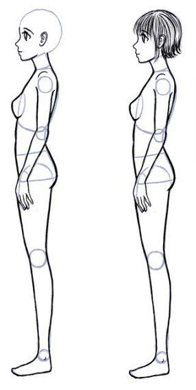 Drawing Body Front Character Design 29 Ideas Anime Side View Anime Drawings Drawing People