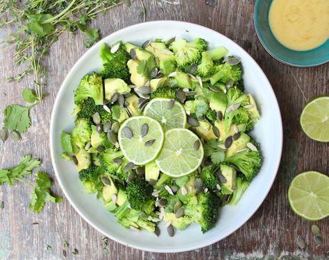 Broccoli, Avocado and Lime Salad