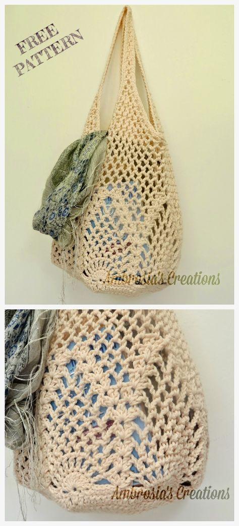 Pineapple Market Bag Free Crochet Patterns