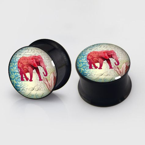 Sold by Pair Dinosaur Hollow Steel Double Flared Ear Gauge Freedom Fashion Plug