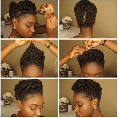 Stunning Flat Twist Updo for natural hair shows you how to create an elegant and…