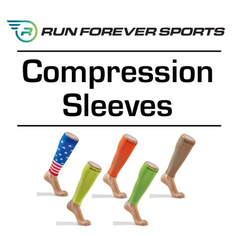 6534cb1660da6f Say goodbye to shin splints with Run Forever Sports Calf Compression Sleeves!  Available in 7 stylish colors, our calf compression sleeves help increase  ...
