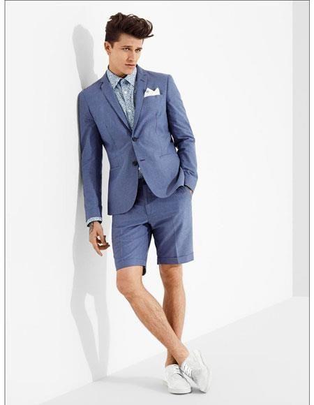 Short Pants Suit Men