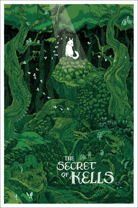 'The Secret Of Kells' by Jessica Seamans - Love that film, really cool animation style. The Secret Of Kells, Book Of Kells, Art And Illustration, Illustrations Posters, Book Cover Design, Book Design, Das Geheimnis Von Kells, Song Of The Sea, New Poster