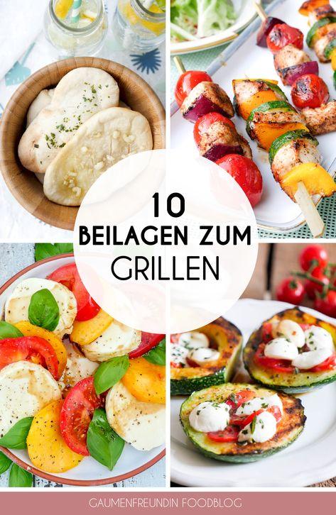 10 schnelle Grillbeilagen - in maximal 15 Minuten zubereitet - köstliche Sommersalate, schnelle Fladenbrote und leckere Dips für ein gelungenes Grillfest - Gaumenfreundin Foodblog #grillen #beilagen #fladenbrot