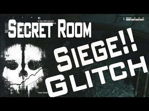 Secret Room Glitch On Map Siege Call Of Duty Ghosts Out Of Map