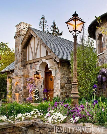 Old World Cottage Storybook Homes, Storybook Cottage, Stone Cottages, Stone Houses, Stone Cottage Homes, Country Cottages, Cozy Cottage, Cottage Style, Garden Cottage