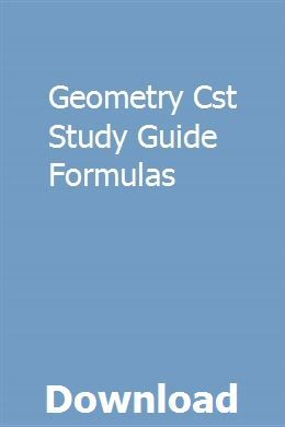 Geometry Cst Study Guide Formulas Repair Manuals Manual Car Owners Manuals