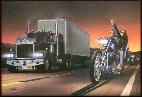 David Mann- I love this pic just because I grew up around motorcycles & worked around trucks for 12 years!