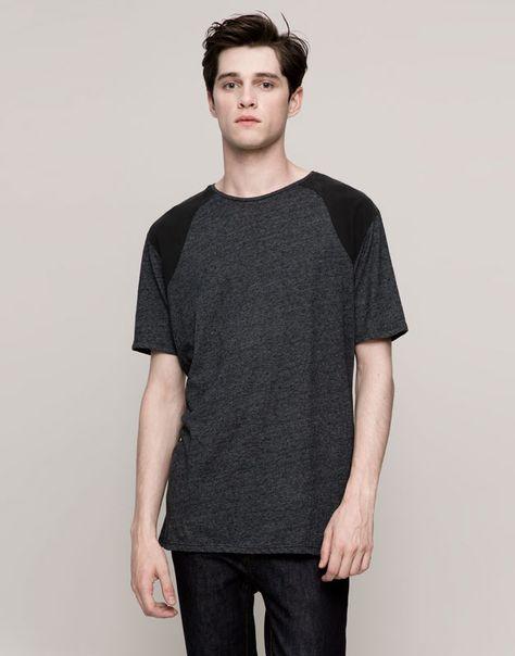 Pull&Bear - man - new products - t-shirt - grey marl - 09240583-I2015