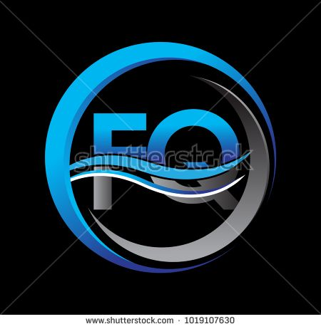 Initial Letter Logo Fq Company Name Blue And Grey Color On Circle
