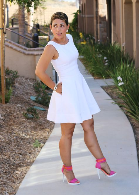 96ac66d4554 DIY White Pique Dress+ Pattern Review - Mimi G Style