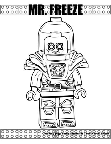Coloring Page Mr Freeze Lego Movie Coloring Pages Superhero
