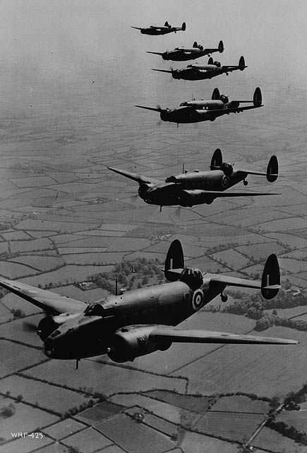 Lockheed Hudson aircraft of the Royal (Canadian) Air Force returning from convoy patrol over the Atlantic Ocean, ca. 1941