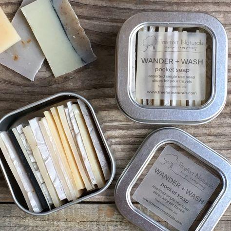 Wander Wash Pocket Soap single use soap slices travel | Etsy