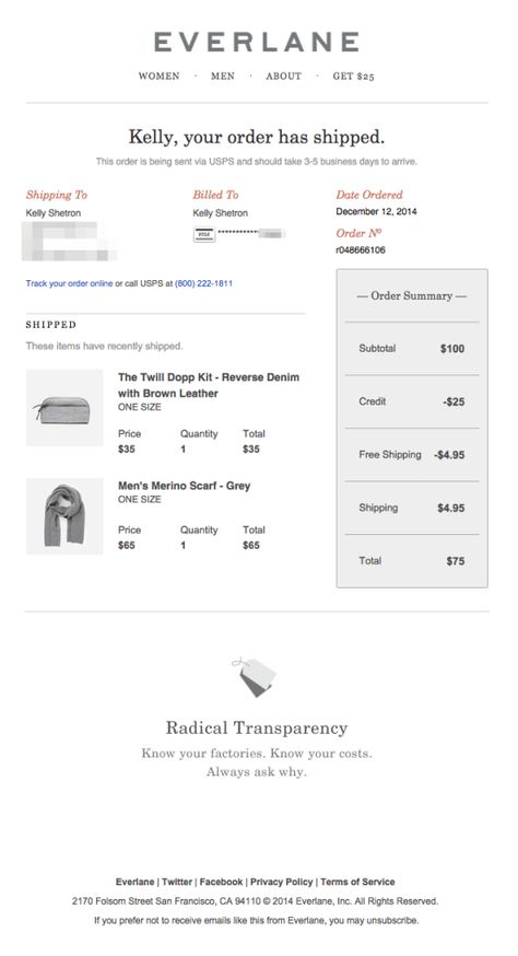 Design Tips for Shipping Confirmation Emails - Email Design