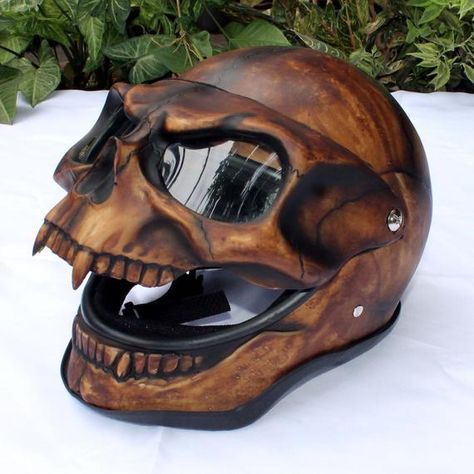 Motorcycle Helmet Skull Monster Death Visor Flip Up Shield Ghost Rider Full Face Skull Motorcycle Helmet, Skull Helmet, Motorcycle Style, Motorcycle Gear, Women Motorcycle, Ghost Rider Motorcycle, Motorcycle Quotes, Moto Bike, Motorcycle Accessories