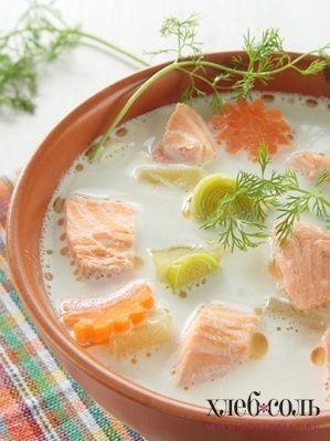Финский суп из лосося со сливками Лохикейтто
