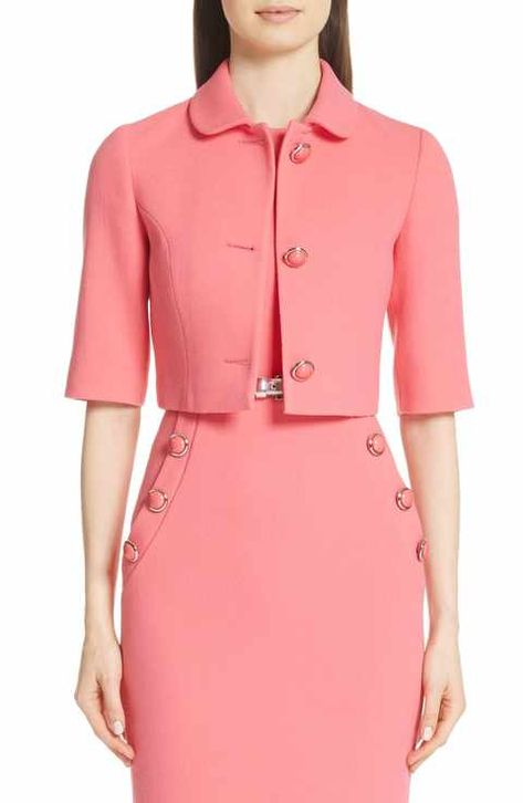 online shopping for Michael Kors Stretch Wool Crop Jacket from top store. See new offer for Michael Kors Stretch Wool Crop Jacket