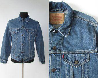 Size M 90s Vintage Levis Type 3 Trucker Light Blue Stonewash Denim Jacket Denim Jacket Vintage Fashion Clothes