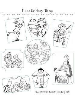 I Can Do Many Things Coloring Pages Love Languages For Kids