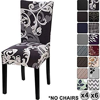 Wondrous Yisun Modern Stretch Dining Chair Covers Removable Washable Squirreltailoven Fun Painted Chair Ideas Images Squirreltailovenorg