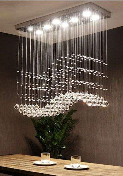 Pin De Kary Kelly Garcia En Iluminacion Colgante Lamparas De Techo Cristal Lamparas De Techo Modernas Candelabros De Cristal