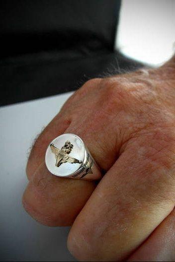 Parachute Regiment Bespoke Ring 9 Carat Gold Emblem By Silversiryessir On Etsy Bespoke Rings Rings Ring Designs