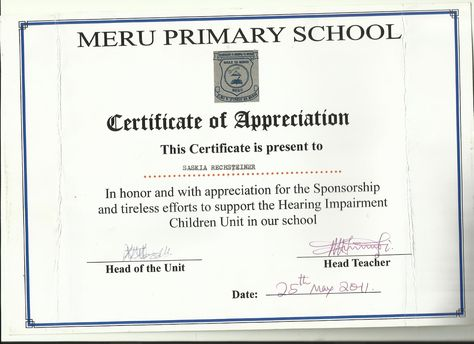certificate of appreciation from school - بحث Google - certificate of appreciation examples