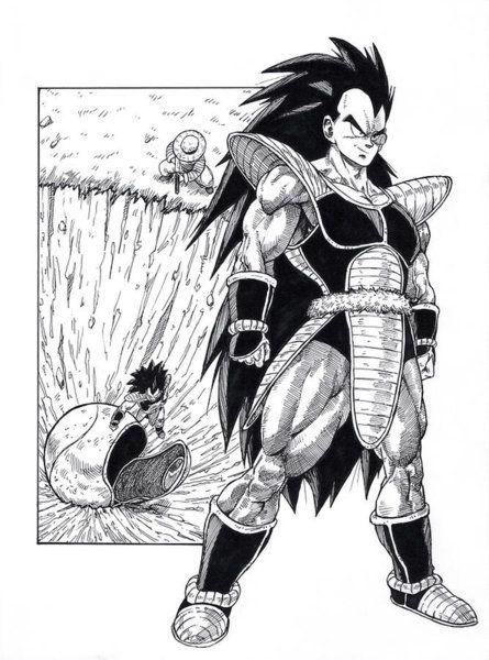 Drawing The Arrival Of Raditz By Darko Babovic Anime Dragon Ball Super Anime Dragon Ball Dragon Ball Super Manga