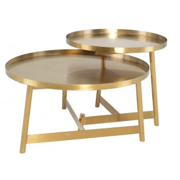 Landon Coffee Table In Gold Metal Top Gold Coffee Table Coffee
