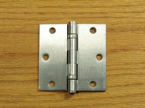 3 1//2-inch square corner Antique Brass Ball Bearing Hinge