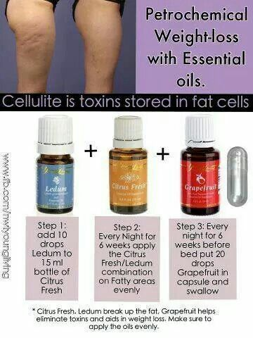 Essential Oils For Cellulite Ledum Citrus Fresh Grapefruit