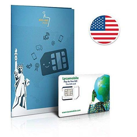 Prepaid Sim Karte Usa 4gb 4g Lte Unbegrenzte Internationale