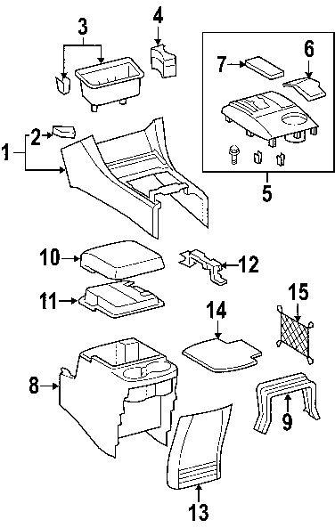 Toyota Tacoma Interior Parts Diagram