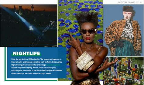 Print and Pattern - NIGHTLIFE - clashing, head to toe animal print look + acid leopard + 80's night life and glamoure