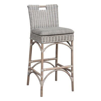 WOVEN WICKER OUTDOOR BAR CHAIR NEW RATTAN BARSTOOL HAMPTON-SET OF 2