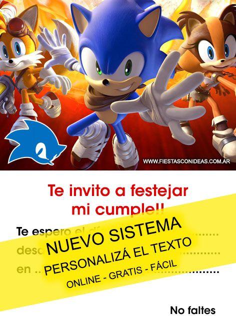Tarjeta De Cumpleaños De Sonic 2017 Para Imprimir