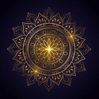Decoracao De Luxo De Flores Mandala Com Cor De Ouro Brilhante Modelo De Ioga Relax Islamic Arabescos Indianas Turquia En 2020 Mandala Mandala Couleur Fleur Mandala