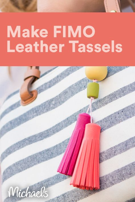 Personalize your bag or tote by creating a stylish faux-leather tassel.