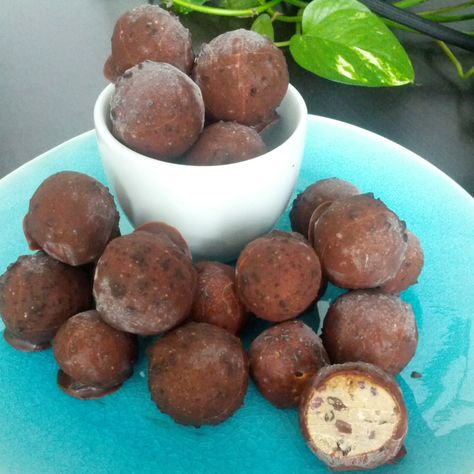 Cookie dough truffles! #chocolate #cookiedough #truffles recipe by @Ricki Wells Heller  http://instagram.com/p/lcw_g2mZrf/