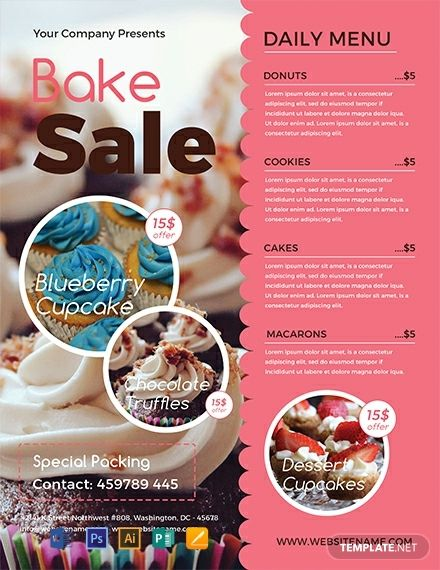 Instantly Download Free Bake Sale Flyer Template Sample Example In Microsoft Word Doc Adobe Photoshop Psd A Bake Sale Flyer Bake Sale Poster Bake Sale