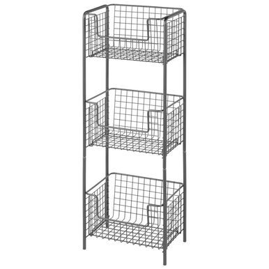3 Tier Wire Free Standing Bathroom Storage Shelf In 2020 Bathroom Shelving Unit Bathroom Storage Storage Shelves